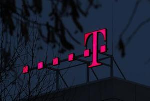 The logo of Deutsche Telekom AG is seen at their headquarters in Bonn