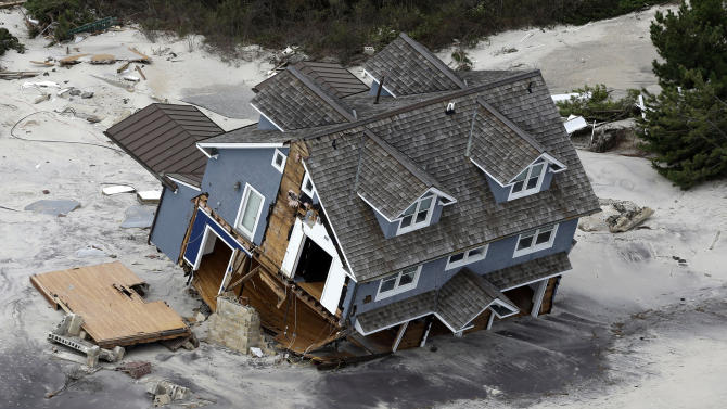 Shore residents return home to damage, destruction