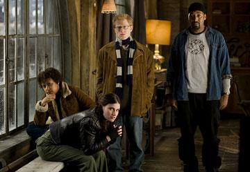 Tracie Thoms , Idina Menzel , Anthony Rapp and Jesse L. Martin in Columbia Pictures' Rent