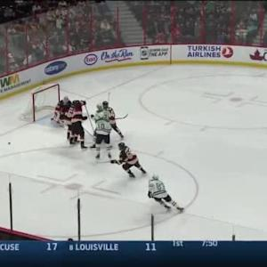Robin Lehner Save on Alex Goligoski (01:55/1st)