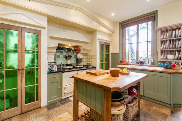 color can revive a kitchen without costing a lot this kitchen