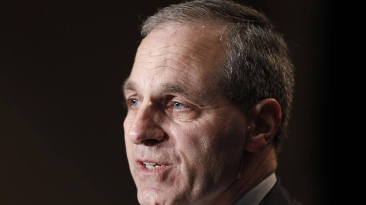 """FILE - In this Nov. 21, 2011 file photo, former FBI director Louis Freeh, speaks during a news conference in Philadelphia. Freeh was airlifted to a hospital Monday, Aug. 25, 2014, after a single-car crash in Vermont, authorities said. Freeh issued a statement Friday, Aug. 29, giving thanks the agents and employees of the FBI. He said, """"Their devotion, vigilance and prayers have sustained me and my family."""" (AP Photo/Alex Brandon, File)"""