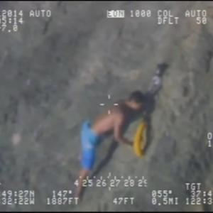 Raw Video: CHP Helicopter Rescues Teenagers On Marin County Cliff