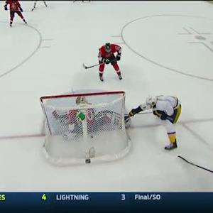 Seth Jones cleans up the OT winner on rush
