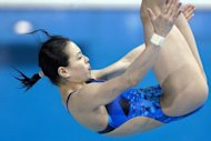 China will be looking for more Olympic gold in the pool Sunday as Wu Minxia, pictured earlier this year, launches their bid for all eight diving gold medals, with her attempt at a third straight synchronised three-metre springboard Olympic crown