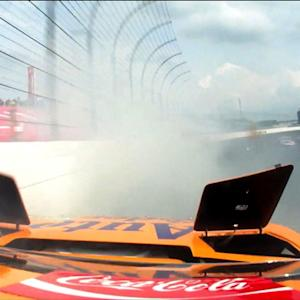 Logano: \x{2018}Slowest car on the track took us out'