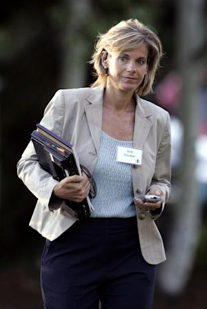 File - In this July 14, 2006 file photo, Susan Decker, the executive vice president and CFO for Yahoo! Inc., arrives at the annual Allen & Co. media conference in Sun Valley, Idaho. Ex-Yahoo president Susan Decker and her one-time investment banker husband Michael Dovey are finalizing a settlement in their long-running divorce, which involved about $71 million in real estate, stock, cash and other assets. Marin County Superior Court Judge Verna Adams approved a settlement presented by the former couple's attorneys Monday, April 23, 2012.   (AP Photo/Elaine Thompson, File)
