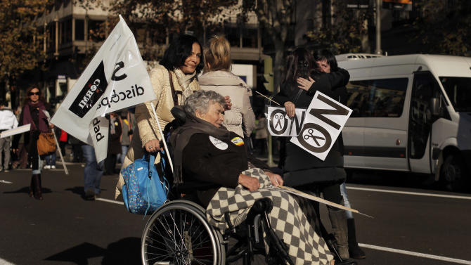 Spain's disabled protest austerity cuts
