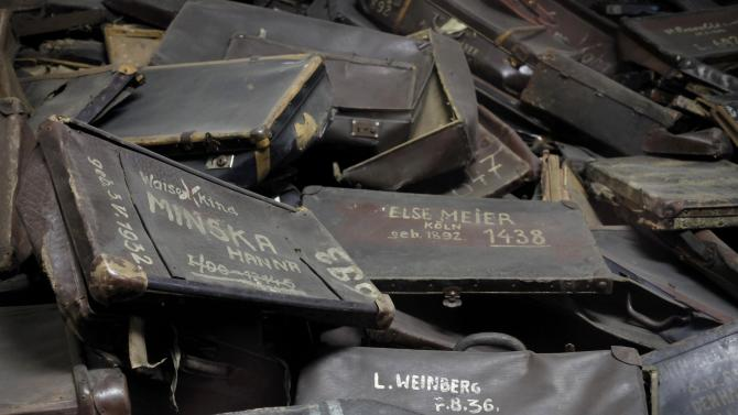 File photo of suitcases displayed former German Nazi concentration and extermination camp Auschwitz in Oswiecim