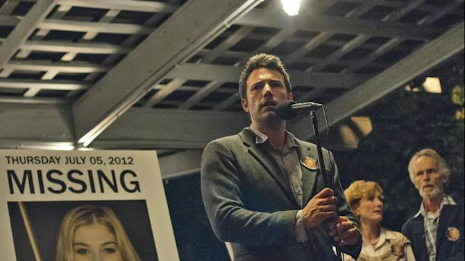 "This image released by 20th Century Fox shows Ben Affleck in a scene from ""Gone Girl."" The 20th Century Fox thriller, which stars Ben Affleck and Rosamund Pike, will premiere in theaters on October 3. (AP Photo/20th Century Fox, Merrick Morton)"