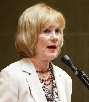 FILE - In this June 14, 2011 file photo, State Sen. Alberta Darling, R-River Hills, speaks during debate on concealed carry legislation in the state Senate at the state Capitol in Madison, Wis. Darling is one of six Wisconsin senators fighting Tuesday, Aug. 9, 2011 to keep their jobs in a recall election, trying to beat back Democratic challengers who stoked a political backlash against Republican Gov. Scott Walker for his efforts to strip public employees of most union rights. (AP Photo/Wisconsin State Journal, M.P. King, File)