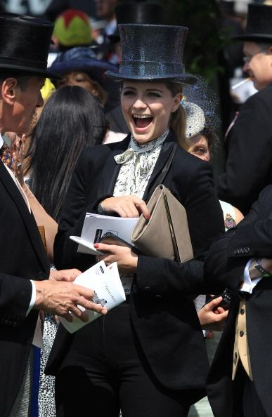 Actress Mischa Barton smiles in the parade ring before The Derby on June 2, 2012 in Epsom, England. For only the second time in its history, the UK celebrates the Diamond Jubilee of a monarch. Her Maj