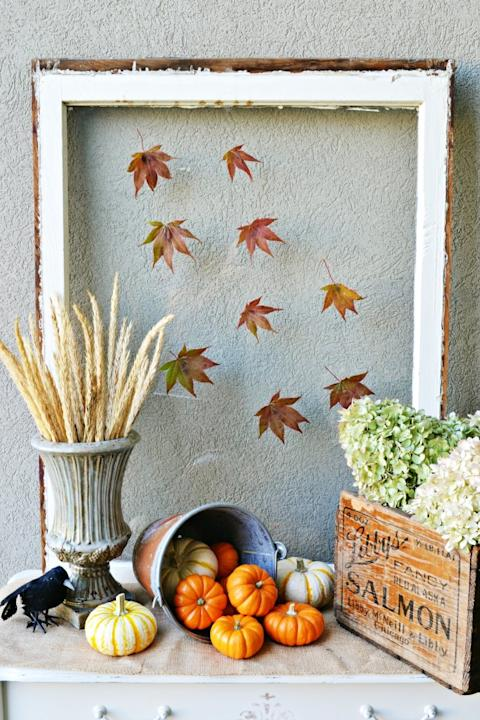 Fall Front Porch Table Vignette