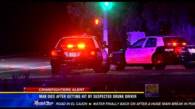 Man dies after getting hit by suspected drunk driver