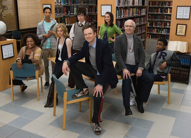 The cast of the NBC series Community.