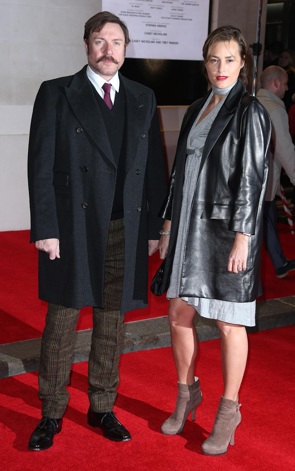 Simon Le Bon and Yasmin Le Bon pose for photographers on the red carpet for the opening night of 'The Book of Mormon' at The Prince of Wales theatre in central London, Thursday, March 21, 2013. (Photo by Joel Ryan/Invision/AP)