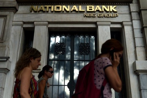 &lt;p&gt;People pass a branch of the National Bank of Greece in Athens. Greece&#39;s banking sector is bracing for what local media called a super deal, following the announcement of the National Bank&#39;s offer to purchase the third-largest lender Eurobank.&lt;/p&gt;