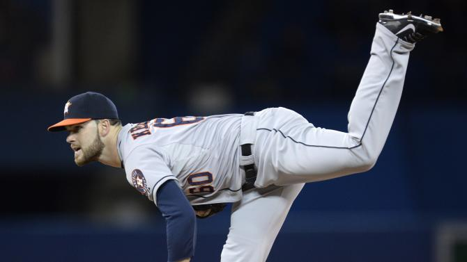 Astros hit 3 home runs, beat Blue Jays 6-4
