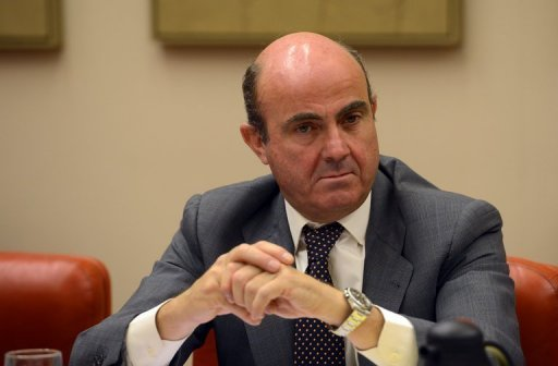 Spain's Mininister of Economy and Competitiveness Luis de Guindos, pictured on July 23