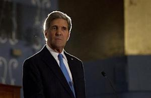 U.S. Secretary of State Kerry participates in a joint news conference with Egypt's Foreign Minister Nabil Fahmy in Cairo