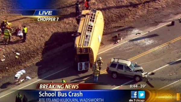 1 person dead, no children seriously injured, in Wadsworth school bus crash