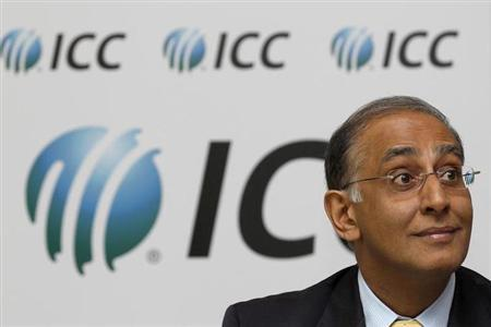 International Cricket Council (ICC) chief executive Haroon Lorgat, listens to questions during a news conference with Anti Corruption and Security Unit chairman Ronnie Flanagan at Lord's cricket groun