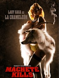 Lady Gaga seen in a poster for &#39;Machete Kills&#39; --