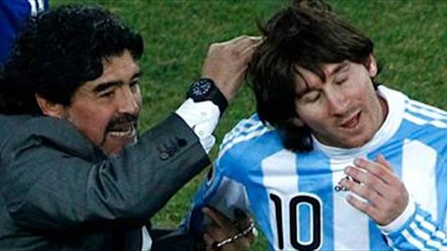 Messi level with Maradona