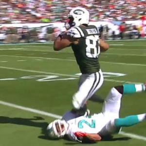 New York Jets quarterback Geno Smith hits Eric Decker deep for 41 yards