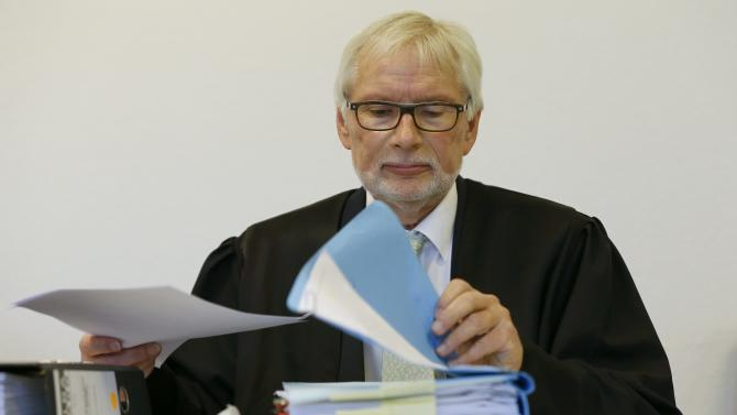 Lawyer Schumacher waits for the start of a trial in Duisburg