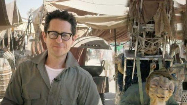J.J. Abrams on the set of 'Star Wars,' May 2014 -- Lucasfilm Ltd