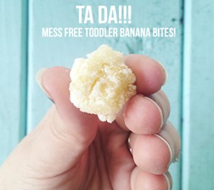 A mess-free toddler snack!