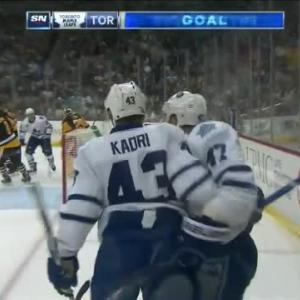 Leo Komarov Goal on Marc-Andre Fleury (08:11/2nd)