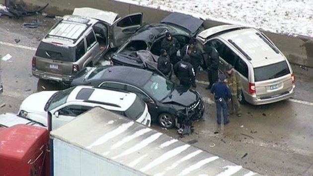 Detroit freeway crash