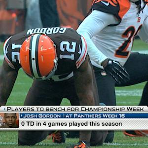 'NFL Fantasy Live': Players to bench for championship week