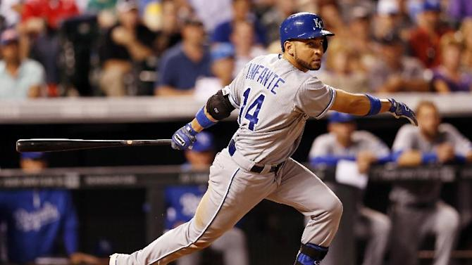 Infante has 3 doubles to lead Royals past Rockies