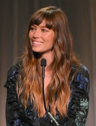 Jessica Biel speaks onstage at Variety's 4th Annual Power of Women Event Presented by Lifetime at the Beverly Wilshire Four Seasons Hotel, Beverly Hills, on October 5, 2012  -- Getty Images