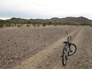 Mountain Biking along ATV trails in the Sonoran Desert.