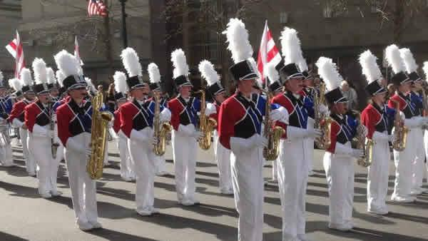 Inaugural parade marches in downtown Raleigh