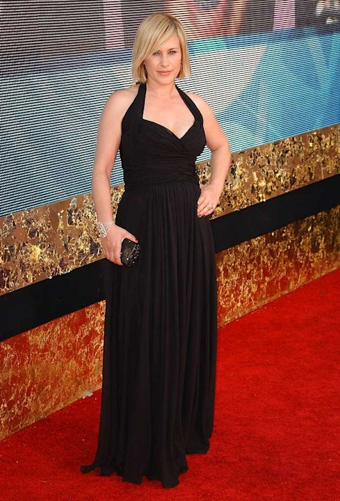 Patricia Arquette arrives at the 59th Annual Primetime Emmy Awards.
