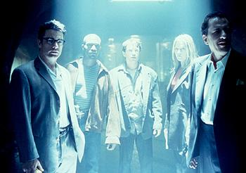 Peter Gallagher , Taye Diggs , Chris Kattan , Ali Larter and Geoffrey Rush in Warner Brothers' House On Haunted Hill