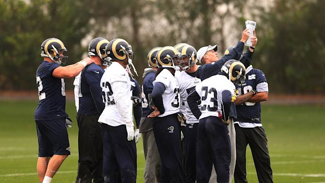 St Louis Rams Training Session At Arsenal Training Ground