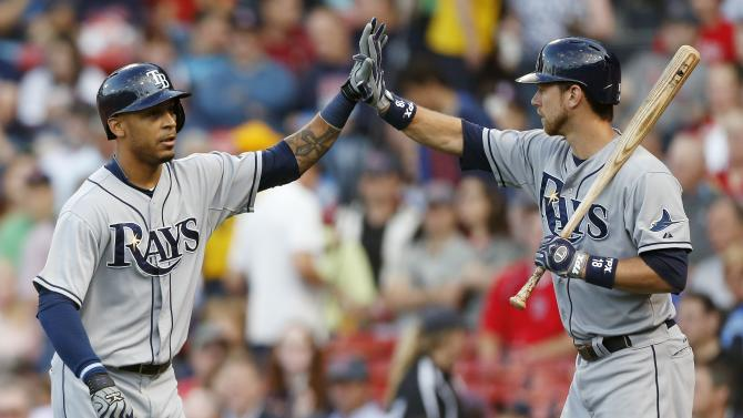Jennings, Hellickson help Rays top Red Sox, 6-2