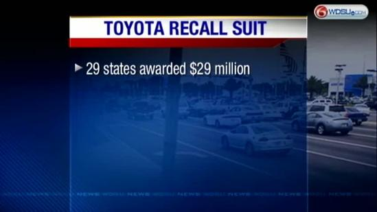 Millions awarded in Toyota recall lawsuit