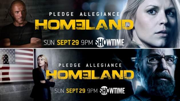 Promo posters for 'Homeland' Season 3 -- Showtime