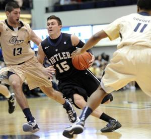 No. 14 Butler holds off George Washington 59-56