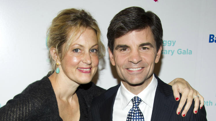 Ali Wentworth and George Stephanopoulos attend the Baby Buggy 10th Anniversary Gala, in New York, Monday, Dec. 5, 2011. (AP Photo/Charles Sykes)