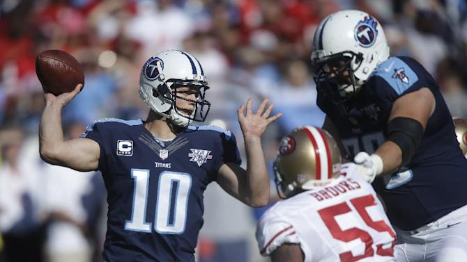 Niners rout Titans 31-17 for 4th straight victory