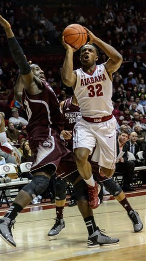 Hot Alabama takes 64-56 win over Mississippi State
