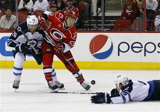 Skinner, Brent lead Canes to 2-1 win over Jets
